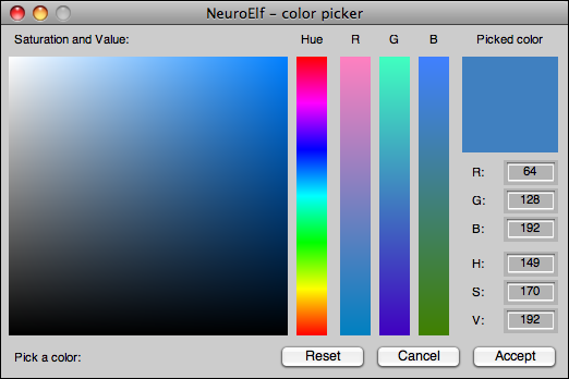colorpicker with a single color