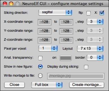 NeuroElf - montage image configuration